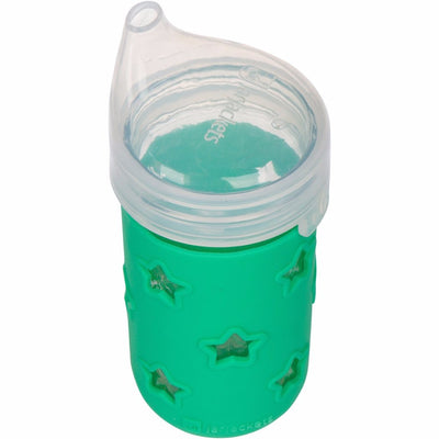 SILICONE MASON JAR SLEEVE + SIPPY LID - FITS 12OZ JELLY JARS | Grasshopper