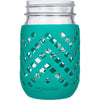 Package of 1 | Silicone Mason Jar Sleeves - Fits 16oz (1 pint) REGULAR-Mouth Jars (Lagoon)