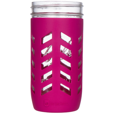 Package of 1 | Silicone Mason Jar Protector Sleeve - Fits Ball, Kerr 24oz (1.5 pint) Wide-Mouth Jars (Sangria)