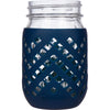 Package of 1 | Silicone Mason Jar Sleeves - Fits 16oz (1 pint) REGULAR-Mouth Jars (Midnight)