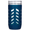 Package of 1 | Silicone Mason Jar Protector Sleeve - Fits Ball, Kerr 24oz (1.5 pint) Wide-Mouth Jars (Midnight)