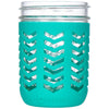 Package of 1 | Silicone Mason Jar Protector Sleeve - Fits Ball, Kerr 16oz (1 pint) Wide-Mouth Jars (Lagoon)