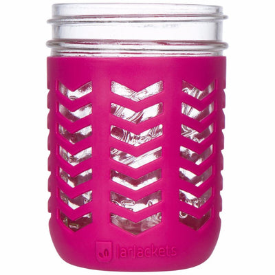 Package of 1 | Silicone Mason Jar Protector Sleeve - Fits Ball, Kerr 16oz (1 pint) Wide-Mouth Jars (Sangria)