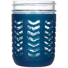 Package of 1 | Silicone Mason Jar Protector Sleeve - Fits Ball, Kerr 16oz (1 pint) Wide-Mouth Jars (Midnight)