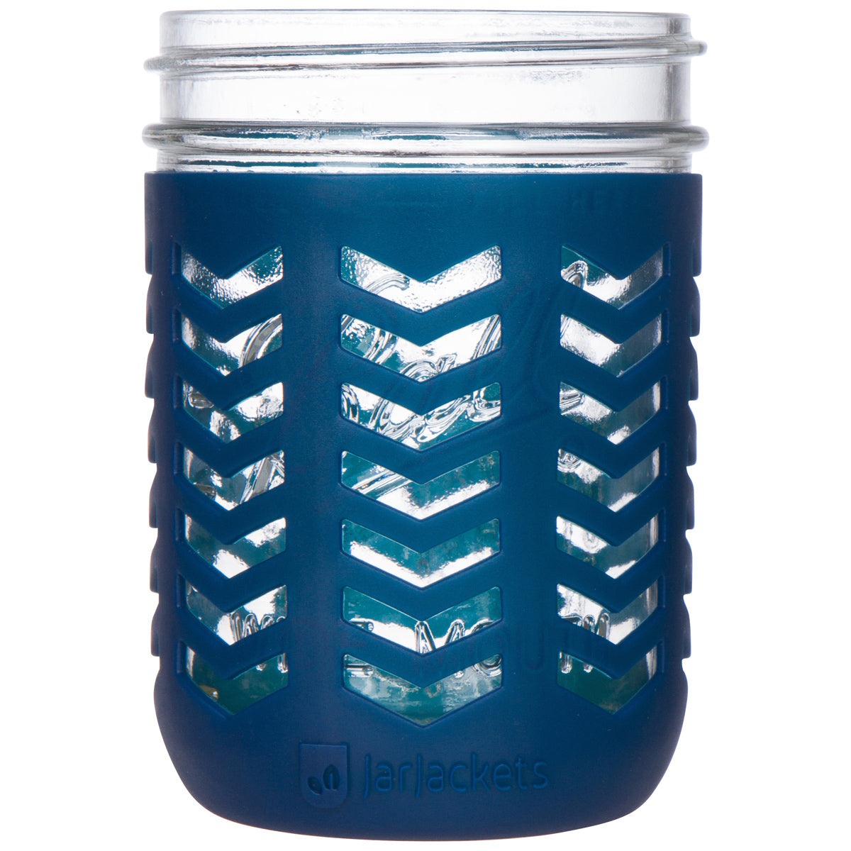 Mason Jar Silicone Sleeve - 16oz (1 pint) Wide-Mouth Jars (Midnight)