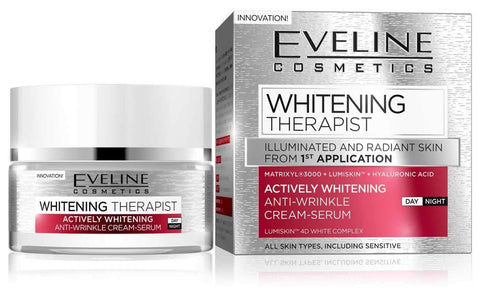 Actively Whitening Anti-Wrinkle Cream-Serum - Eveline Whitening Therapist - The Original Helia-D Online Store since 2001