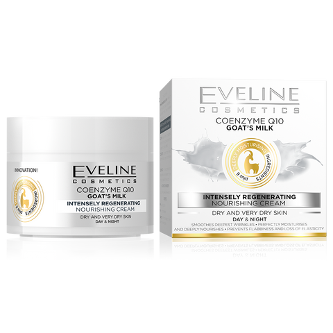 Coenzyme Q10 and Goat's Milk - Intensely Regenerating Nourishing Eveline Day Cream - The Original Helia-D Online Store since 2001