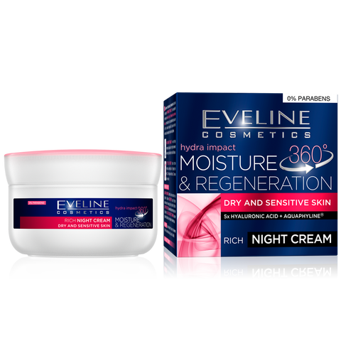Eveline Hydra Impact - Moisture and Regeneration Night Cream - The Original Helia-D Online Store since 2001