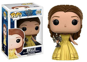 Funko Pop Belle with Candlestick # 248 Beauty And The Beast + Soft Protector