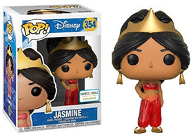 Funko Pop! Disney Aladdin Jasmine #354 (Red Dress Glitter) + Pop Protector