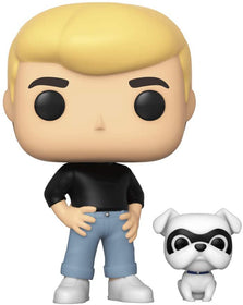 Funko Pop! Animation- Jonny Quest With Bandit #825 + Pop Protector