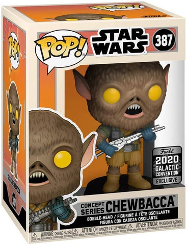 Star Wars Concept Series Chewbacca Galactic Convention 2020 + Pop Protector