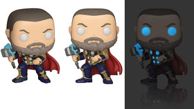 Funko Pop! Games Marvel's Avengers - Thor (Glows in the Dark) + Pop Protector