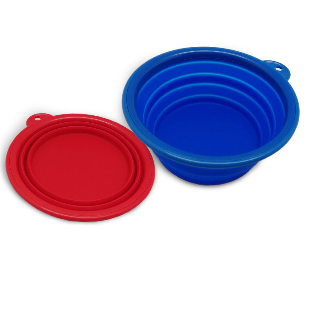 AZCAMP Collapsible Silicone Camping Bowl, Food-grade and BPA-free, Pack of 2
