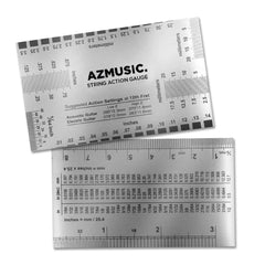 AZMUSIC String Action Gauge for Accurate Measurement of Acoustic, Electric, and Bass Guitar Setup