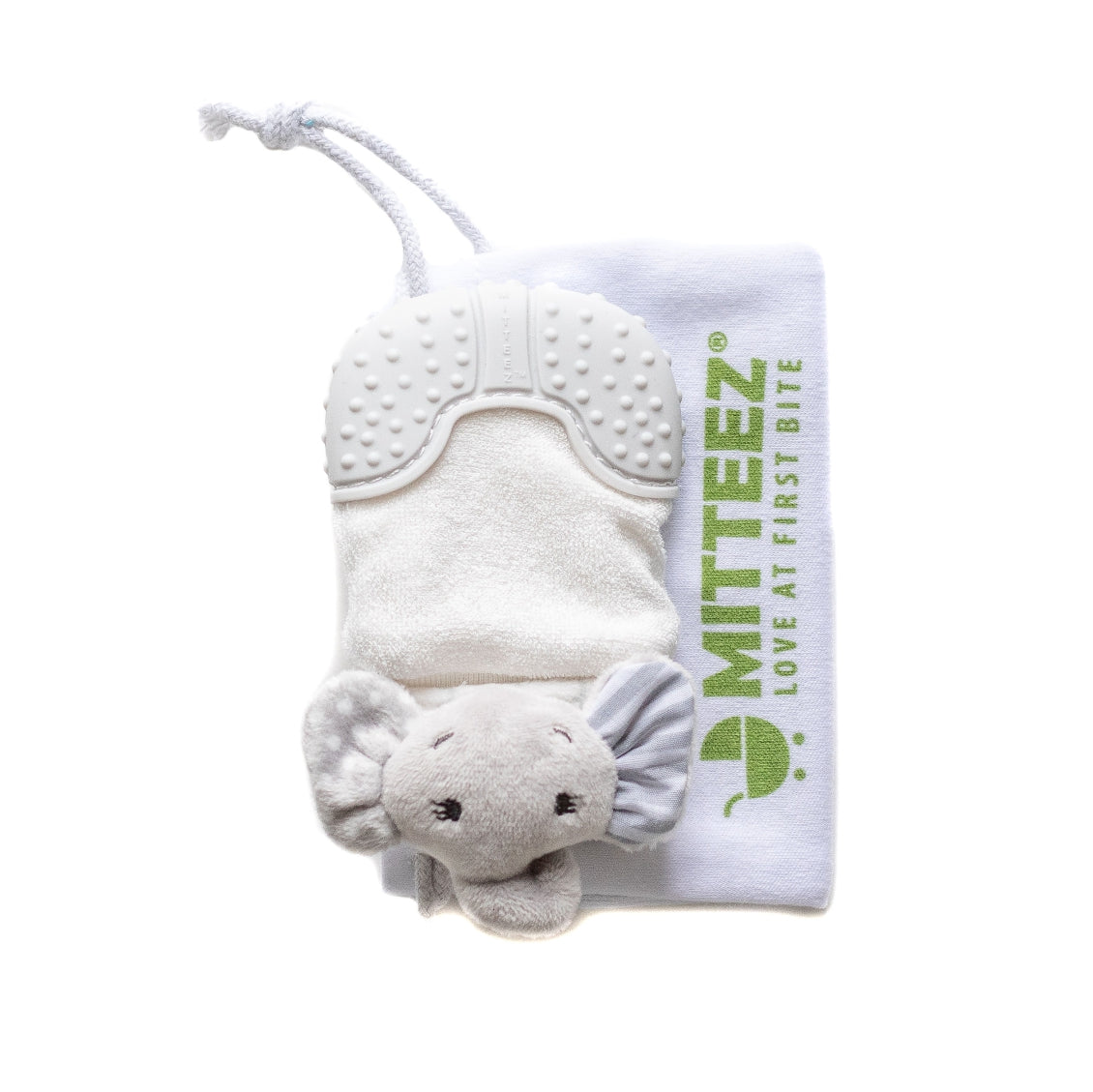 MITTEEZ® The Ultimate Organic Teething Mitty and Keepsake - Ella the Elephant  (3-8 MONTHS) Gray SOLD OUT