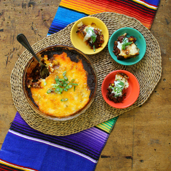 Chipotle Vegetable Chili Tamale Pie