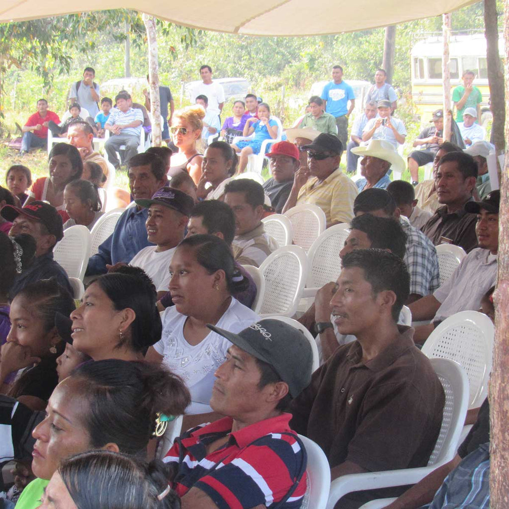 Farmers and Families at Maya Mountain Cacao Farmer Meeting 2016