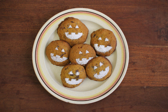 Pumpkin and Cinnamon Chocolate Jack-o'-lantern Cookies