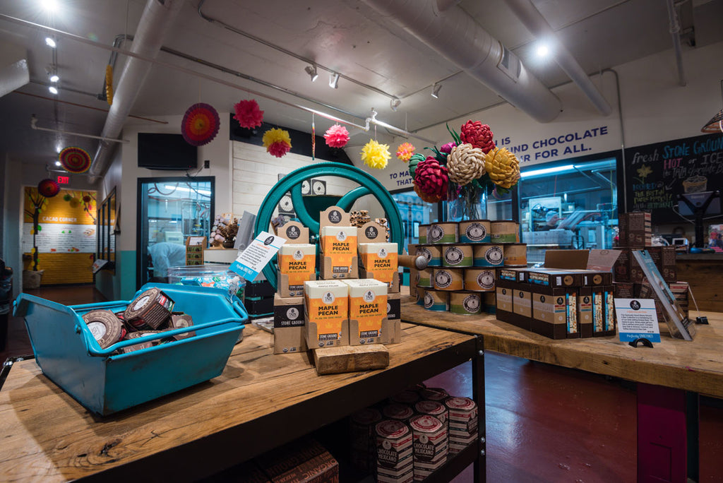 The Taza Chocolate Factory Store at 561 windsor Street, Somerville, MA 02143