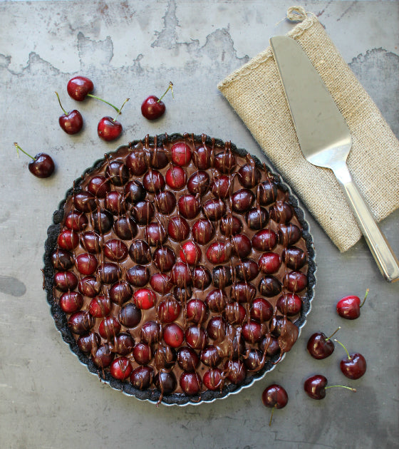 No-Bake Double Chocolate Cherry Tart