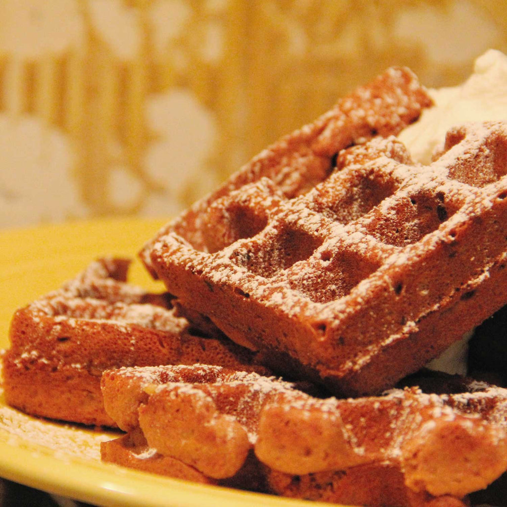 Taza Chocolate Coconut Waffles (Nom Pum) Recipe