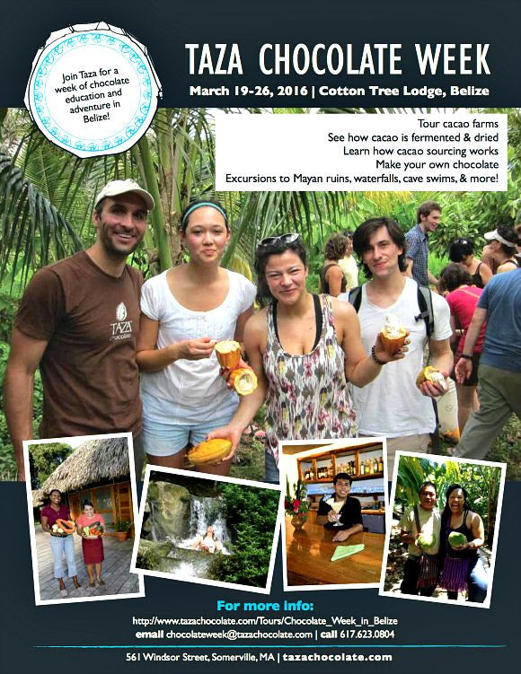 Taza Chocolate Week Flyer - March 19-26, 2016 | Cotton Tree Lodge, Belize