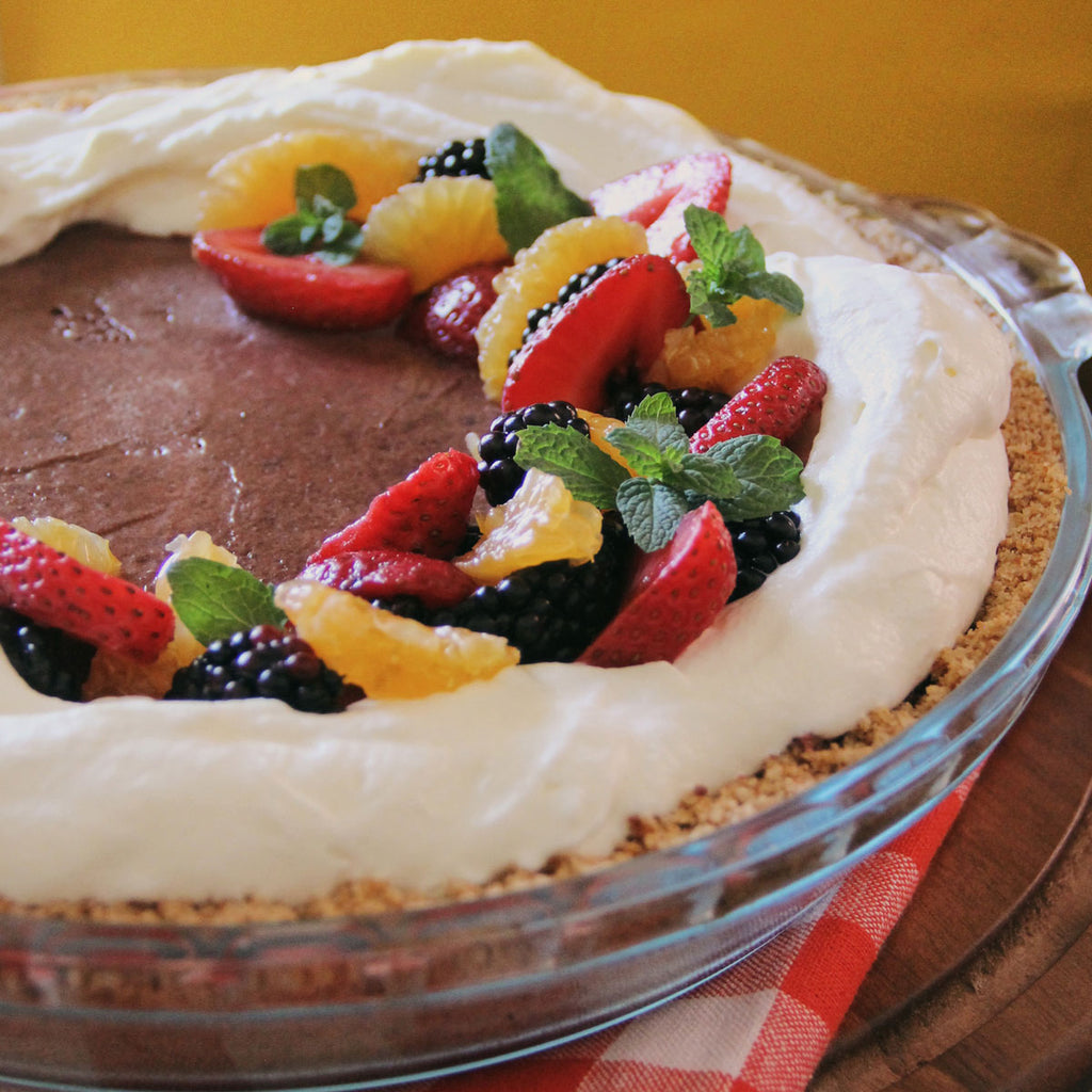 Rich and Refreshing No-Bake Chocolate Cloud Pie | tazachocolate.com