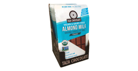 Taza Almond Milk Chocolate vegan case of 10