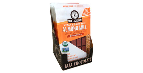 Taza Almond Milk Chocolate - Quinoa - case of 10