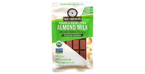 Taza dairy-free plant-based Almond Milk Chocolate with cashews
