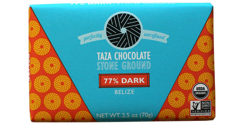 Taza Chocolate Belize - 77% Dark Chocolate Bar