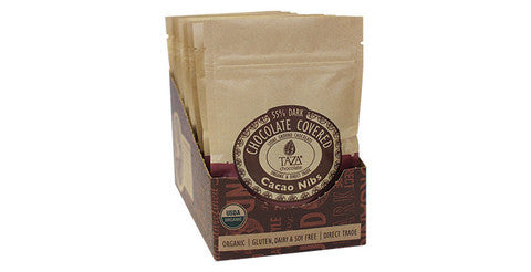 Chocolate Covered Nibs Bag, Case 10 Bags - Taza Chocolate