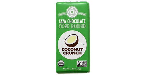 Coconut Crunch Tazitos, .85oz Chocolate Mini-Bar - Taza Chocolate