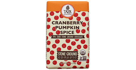 Cranberry Pumpkin Spice Taza Dark Chocolate Bar