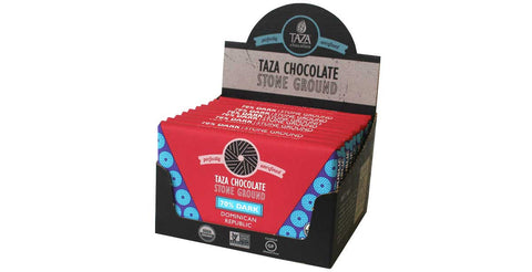 Taza Chocolate Dominican Republic - 70% Dark Chocolate Case Box