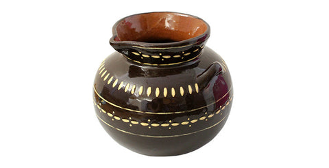 Olla de Barro Ceramic Pot - Taza Chocolate