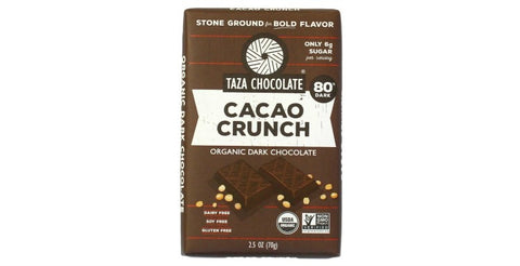 Cacao Nib Crunch Chocolate Bar, Taza Chocolate