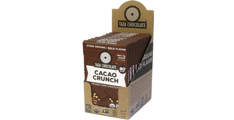 Cacao Nib Crunch Chocolate Bars, Case 10 Bars - Taza Chocolate