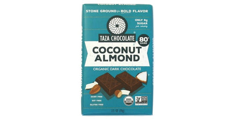 Coconut Almond Chocolate Bars - Taza Chocolate