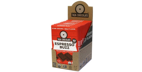 Espresso Buzz Chocolate Bars, Case 10 Bars - Taza Chocolate