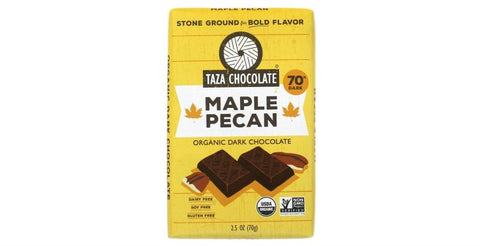 Maple Pecan Chocolate Bars - Taza Chocolate