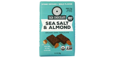 Sea Salt Almond Chocolate Bar, Taza Chocolate