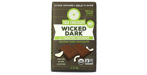 Wicked Dark with Toasted Coconut Chocolate Bars - Taza Chocolate