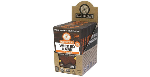 Wicked Dark with Ginger Chocolate Bars, Case 10 Bars - Taza Chocolate
