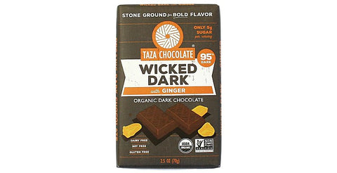 Wicked Dark with Ginger Chocolate Bars - Taza Chocolate