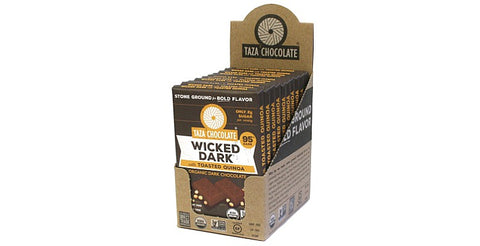 Wicked Dark with Quinoa Chocolate Bars, Case 10 Bars - Taza Chocolate