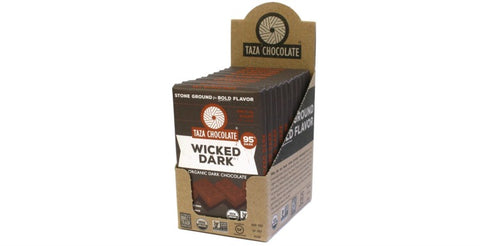 95% Wicked Dark Chocolate, Case 10 Bars - Taza Chocolate