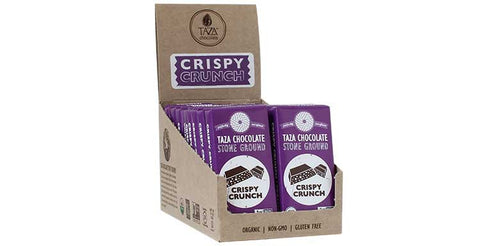 Crispy Crunch Tazitos Chocolate Mini-Bars, Case 20 Chocolate Mini-Bars - Taza Chocolate
