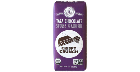 Crispy Crunch Tazitos Chocolate Mini-Bar, .85oz Chocolate Mini-Bar - Taza Chocolate